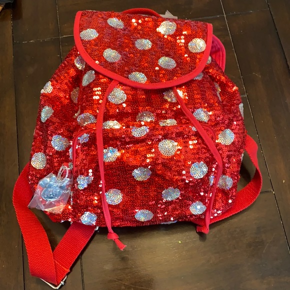 Disney Parks Minnie mouse sequin backpack